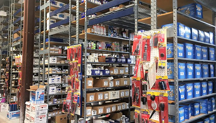 Ham's NAPA Auto Parts in Barnesville, GA Stock Room