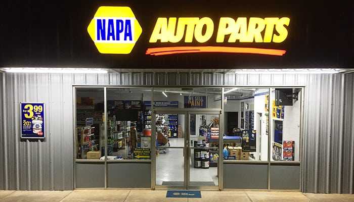 Ham's NAPA Auto Parts in Barnesville, GA Storefront Night